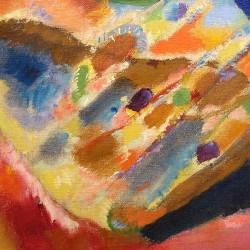 Wassily Kandinsky - Trzy spoty - Obraz na płótnie