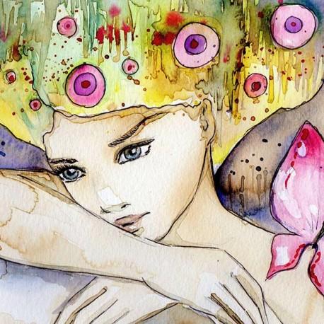 Abstrakcyjny portret dziewczyny - obraz na płótnie