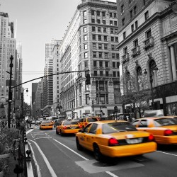 Żółte Taxi w Nowym Jorku - nowoczesny obraz na płótnie
