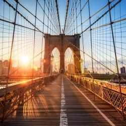 Brooklyn Bridge w Nowym Jorku - Nowoczesny obraz drukowany na płótnie