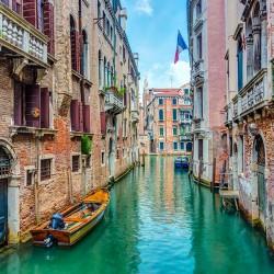 Uroczy zakątek w Wenecji - Nowoczesny obraz drukowany na płótnie