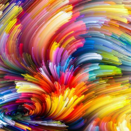 Kolorowa abstrakcja - Nowoczesny obraz na płótnie