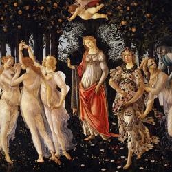Botticelli Primavera - Reprodukcja obrazu na płótnie