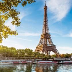 Wieża Eiffla w Paryżu - Nowoczesny obraz na płótnie