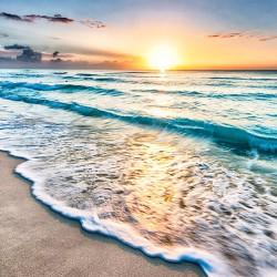 Wschód słońca nad morzem - Nowoczesny obraz na płótnie