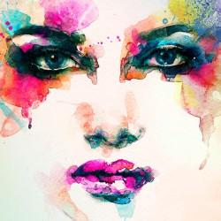 Abstrakcyjna twarz - Nowoczesny obraz na płótnie