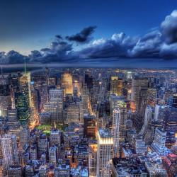 Nowy Jork nocą - Nowoczesny obraz na płótnie