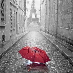 Uliczka w Paryżu - Nowoczesny obraz drukowany na płótnie