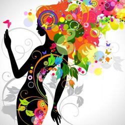 Kobieta abstrakcyjna - Nowoczesny obraz na płótnie