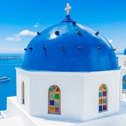 Santorini - Nowoczesny obraz drukowany na płótnie canvas