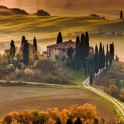 Jesienna Toskania - Nowoczesny obraz na płótnie