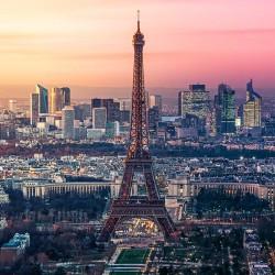 Paryż z lotu ptaka - Nowoczesny obraz drukowany na płótnie