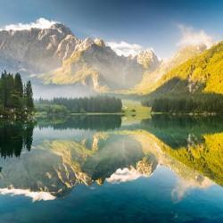 Alpejski krajobraz - Nowoczesny obraz wydrukowany na płótnie