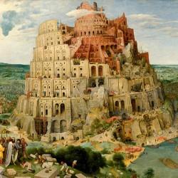 Wieża Babel Pietera Bruegla - Reprodukcja obrazu na płótnie