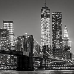 Nowy Jork nocą - Nowoczesny obraz na ścianę