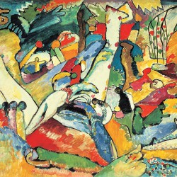 Wassily Kandinsky - Kompozycja II - Obraz na płótnie