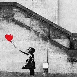 Banksy - Dziewczynka z balonem - Obraz na ścianę