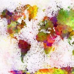 Abstrakcyjna mapa świata - Nowoczesny obraz na ścianę